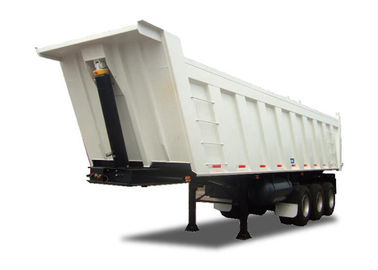 SWTST500U Low Bed Semi Trailer 3 Axles Tipping Semi Trailer 40 Ton Capacity